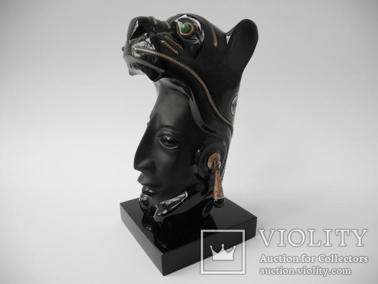 "Фигура "" Женщина Пантера "" ( Стекло , Серебро 925 ) Мексика, фото №3"