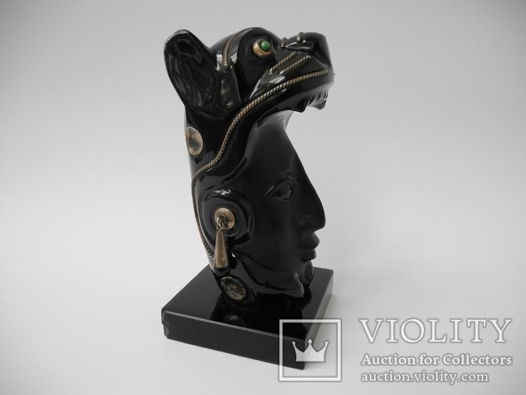 "Фигура "" Женщина Пантера "" ( Стекло , Серебро 925 ) Мексика, фото №8"
