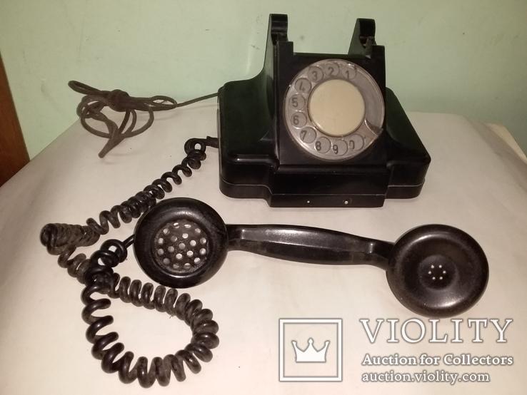 Телефон СССР карболитовый 1956 года, фото №3