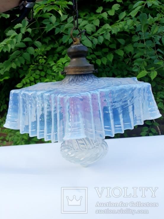Старинная люстра с цветного стекла ( Франция ), фото №2