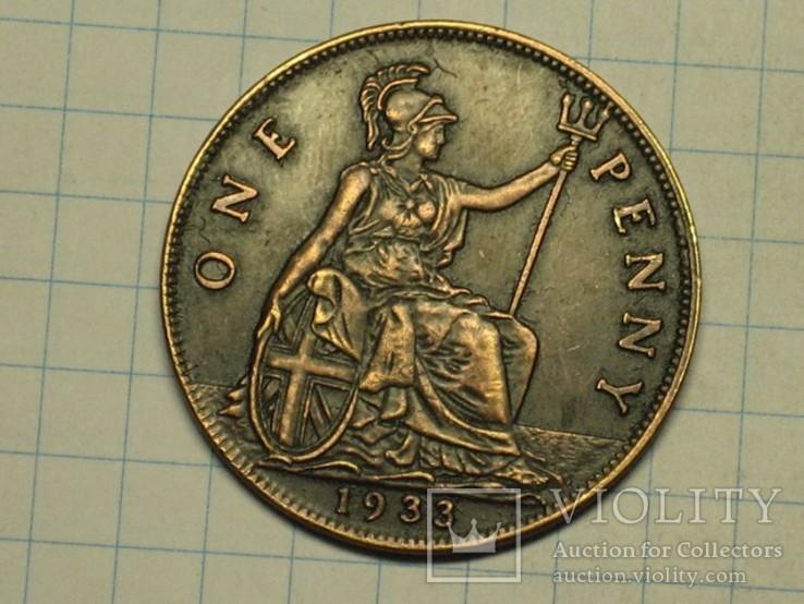 1 пенни 1833 копия, фото №2