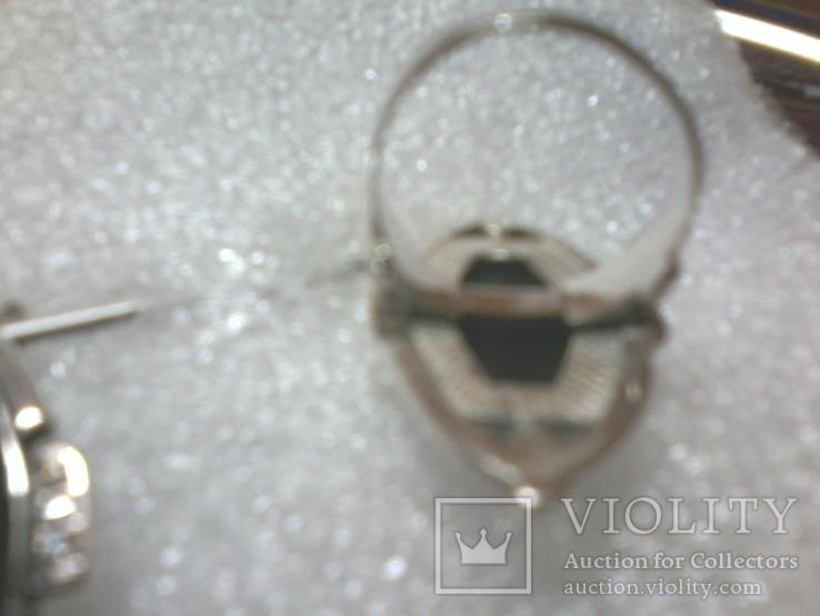 Набор 925 серьги ,кольцо р.16.5, фото №3