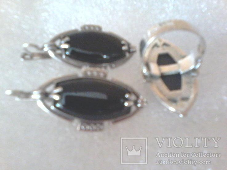 Набор 925 серьги ,кольцо р.16.5, фото №4
