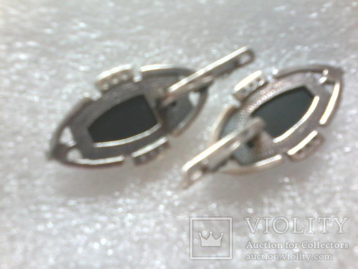 Набор 925 серьги ,кольцо р.16.5, фото №5