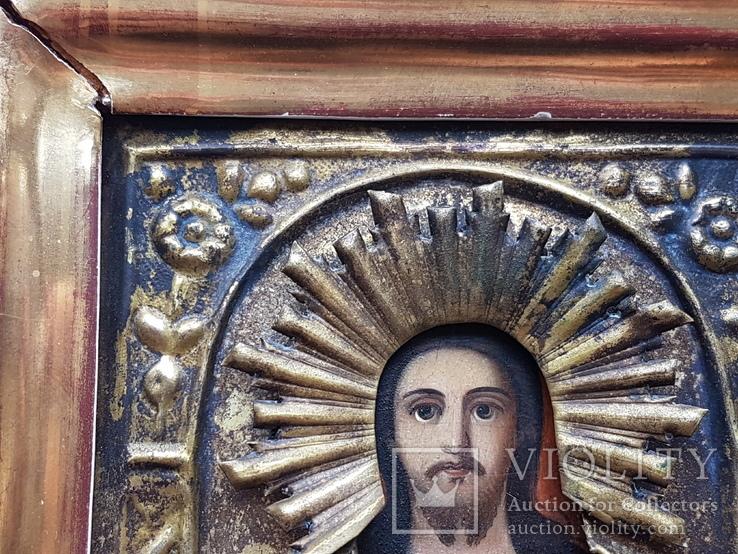 Икона Спаситель в окладе, фото №5