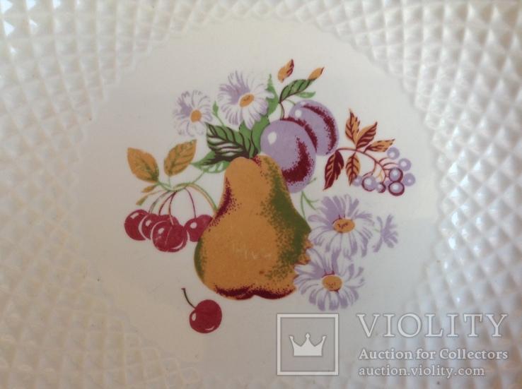 Блюдо / тарелка Фрукты. Фарфор, Рига., фото №3