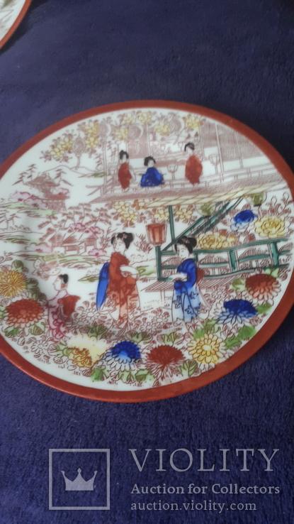 Старинная фарфоровая тарелка Япония, фото №2