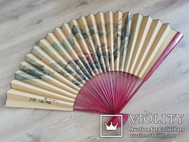 Китайский интерьерный веер 102 см., фото №3
