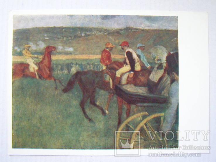 На скачках. худ. Дега 1957 г., фото №2