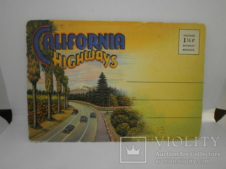 Набор с 18 видами США Калифорния. Виды, природа, транспорт