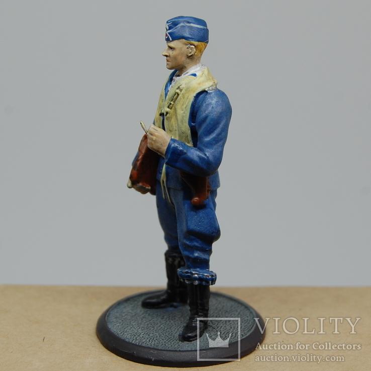 Немецкий Африканский корпус. Летчик. олово, раскрас, фото №5