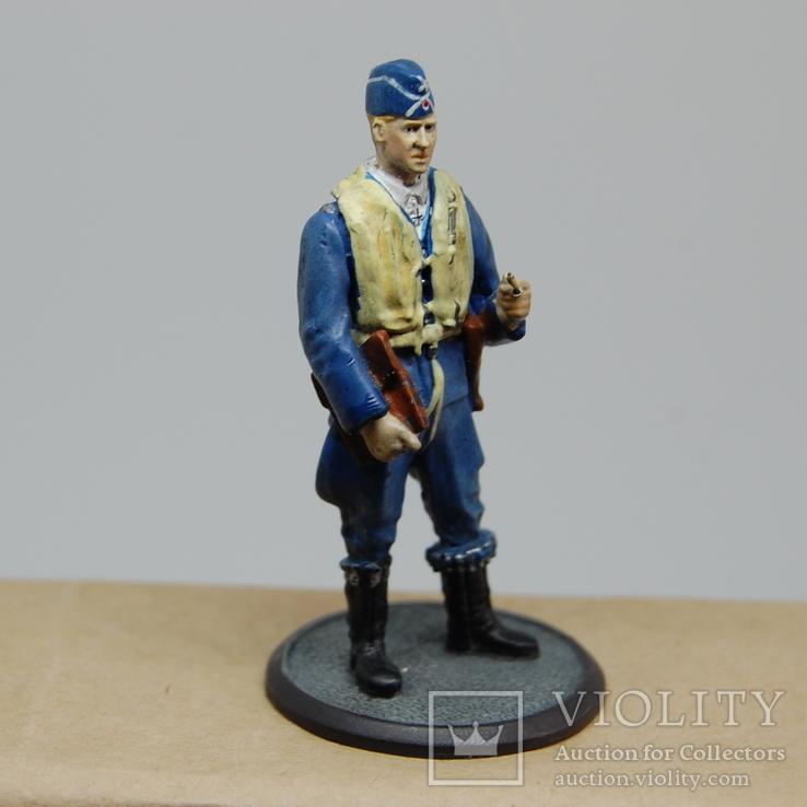 Немецкий Африканский корпус. Летчик. олово, раскрас, фото №8
