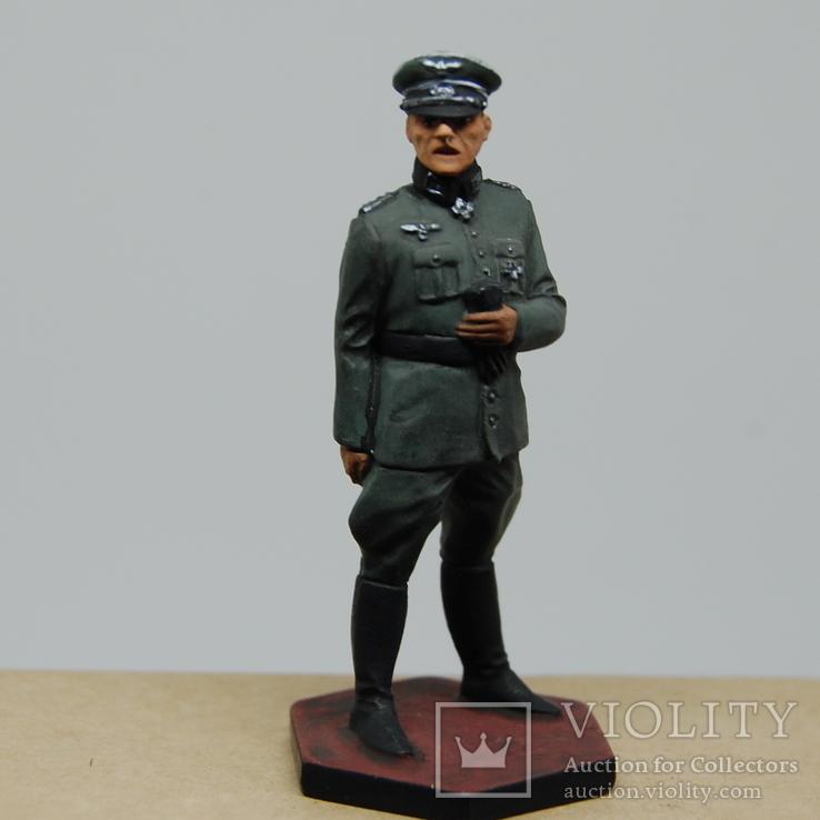 Немецкий офицер с перчатками. Период ВОВ. Олово, раскрас, фото №3