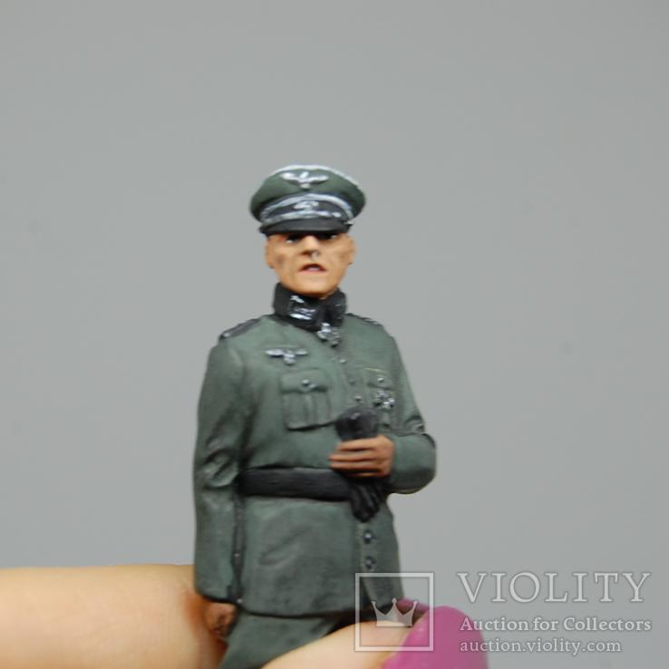 Немецкий офицер с перчатками. Период ВОВ. Олово, раскрас, фото №4