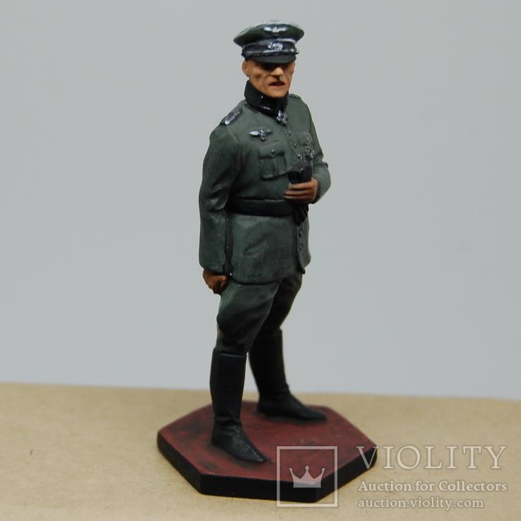 Немецкий офицер с перчатками. Период ВОВ. Олово, раскрас, фото №5