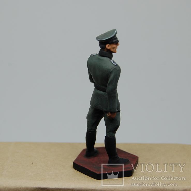Немецкий офицер с перчатками. Период ВОВ. Олово, раскрас, фото №6