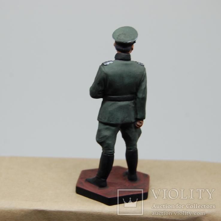 Немецкий офицер с перчатками. Период ВОВ. Олово, раскрас, фото №7