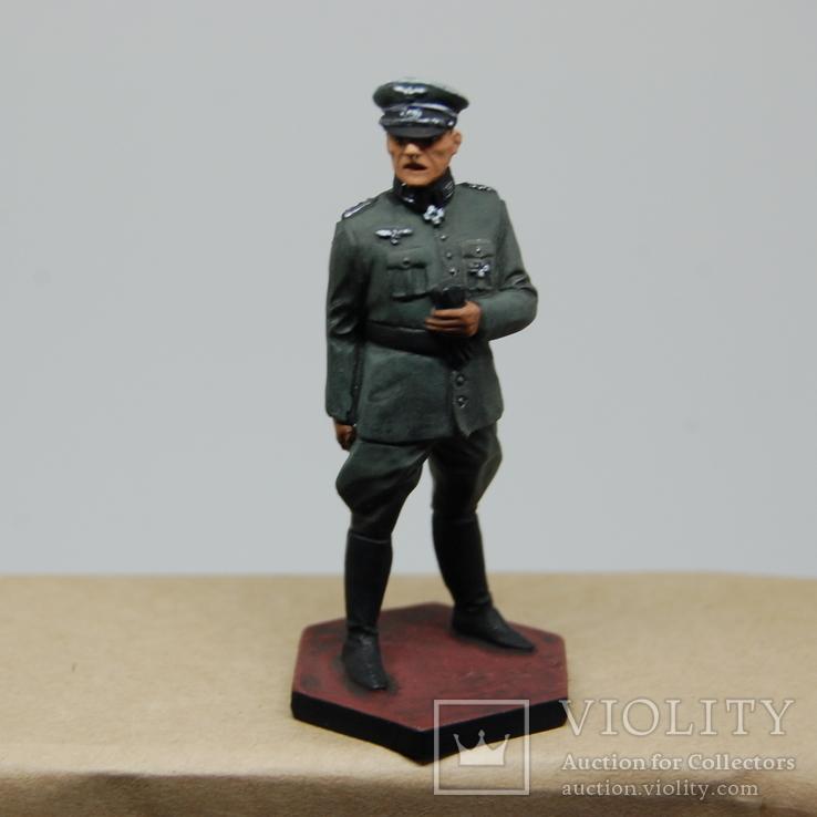 Немецкий офицер с перчатками. Период ВОВ. Олово, раскрас, фото №10
