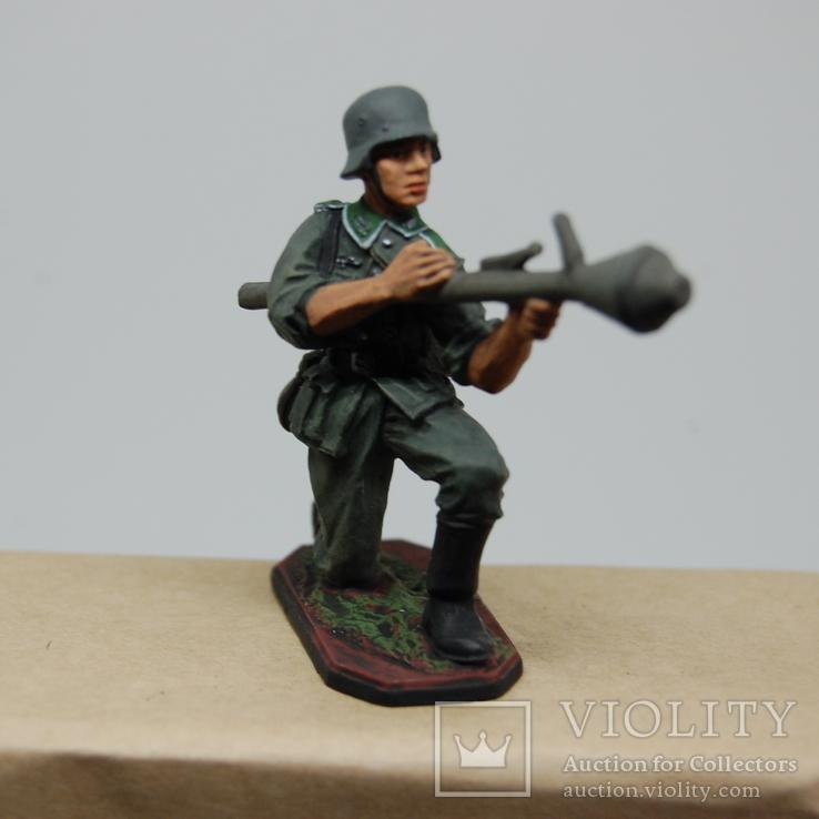 Немецкий солдат. Период ВОВ. Олово, раскрас, фото №3