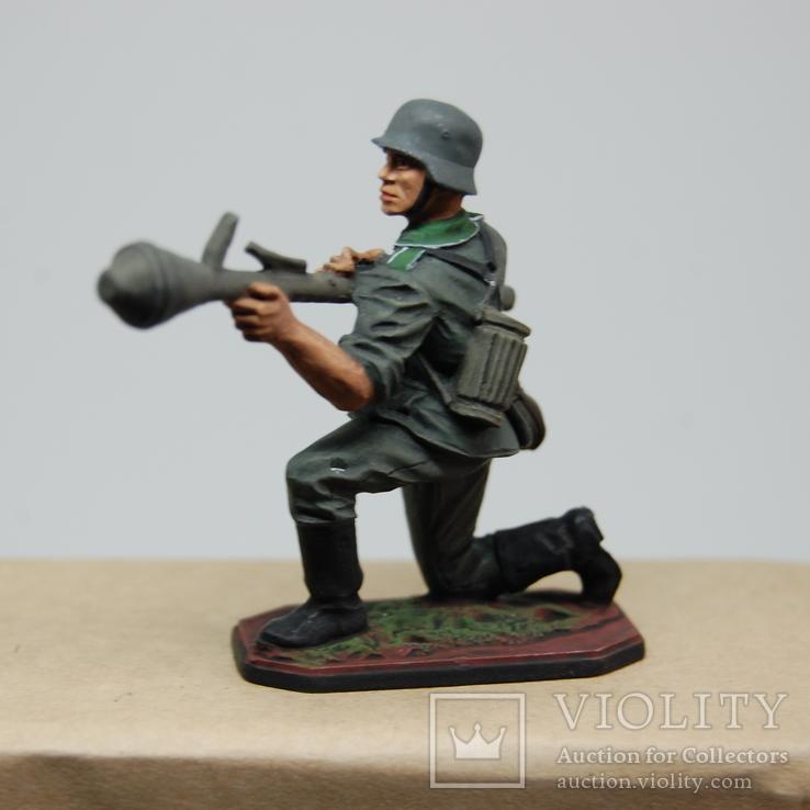 Немецкий солдат. Период ВОВ. Олово, раскрас, фото №4