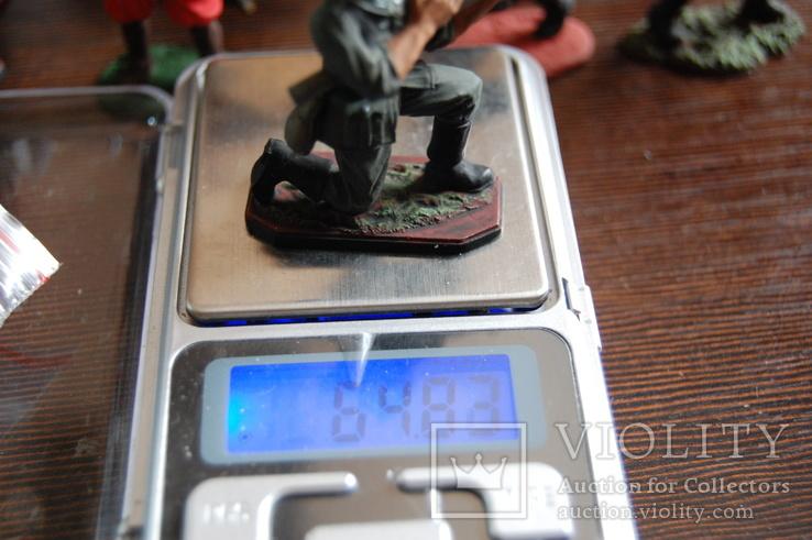 Немецкий солдат. Период ВОВ. Олово, раскрас, фото №12