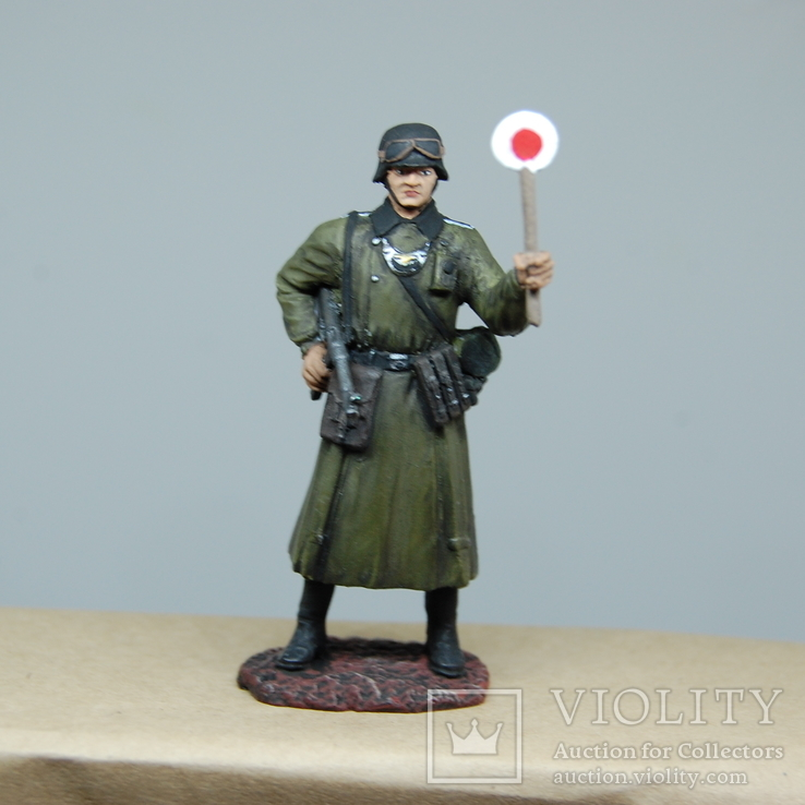 Немецкий солдат. Период ВОВ. Олово, раскрас, фото №9