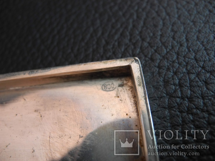 Портсигар серебро 800 пр , 114 гр, фото №3