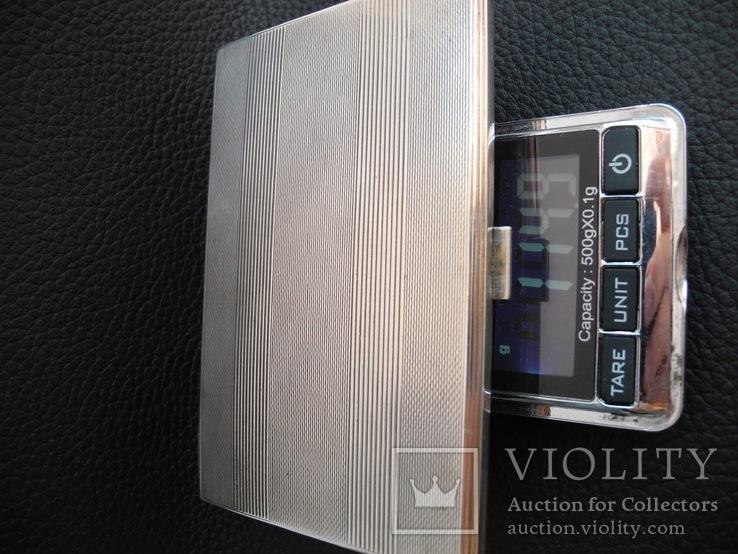 Портсигар серебро 800 пр , 114 гр, фото №6