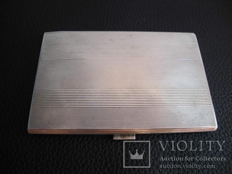 Портсигар серебро 800 пр , 114 гр, фото №7