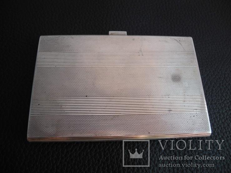 Портсигар серебро 800 пр , 114 гр, фото №2