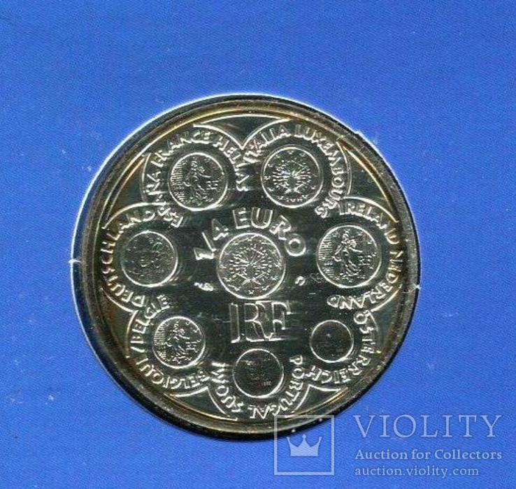 Франция 1/4 евро 2002 UNC серебро Буклет, фото №4