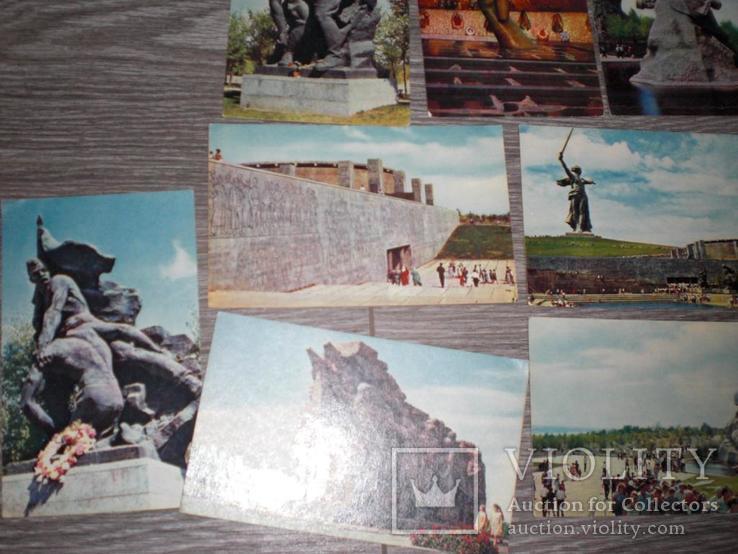 Набор открыток СССР ВОЛГОГРАД ПАМЯТНИКИ 14ШТ 1968г, фото №3