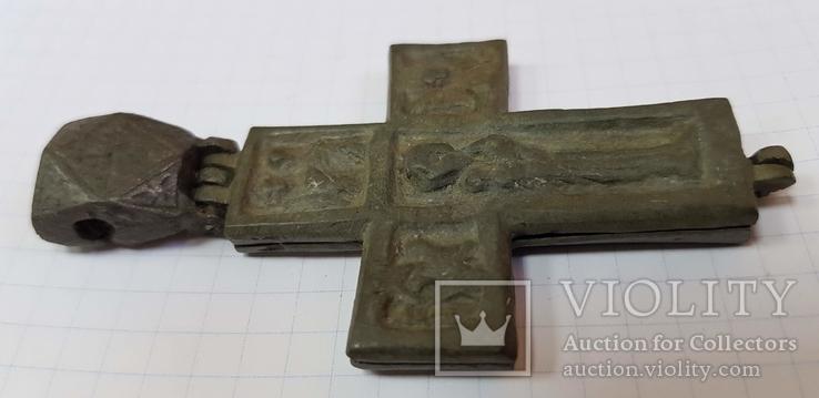 Энколпион 14-15в. (Распятие Христово с Предстоящими - Богородица Агиосоритисса), фото №9