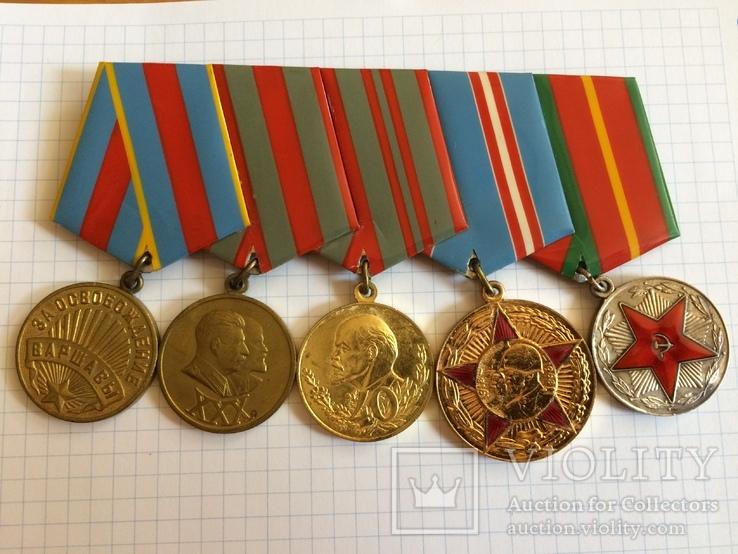 Награды на подполковника БКЗ КЗ ЗБЗ выслуга Варшава с документами благодарности Сталина, фото №7