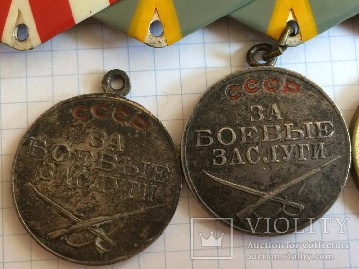 Награды на подполковника БКЗ КЗ ЗБЗ выслуга Варшава с документами благодарности Сталина, фото №11