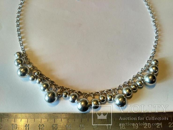 Колье серебро, фото №3