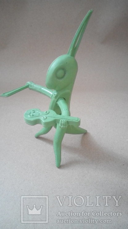 Кузнечик скрипач фигурка игрушка СССР
