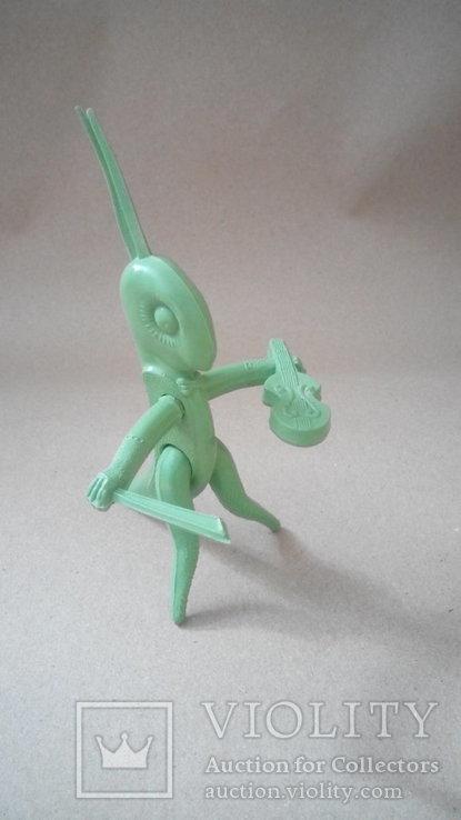 Кузнечик скрипач фигурка игрушка СССР, фото №6