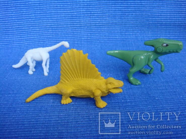 Фигурки динозавры, желтый резиновый INPRO 1972 год, фото №2