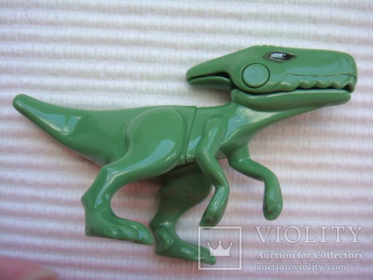 Фигурки динозавры, желтый резиновый INPRO 1972 год, фото №7