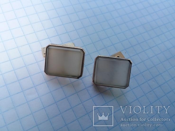 Запонки серебро ☆875 позолота  ,клеймо 1ЛЮ, фото №3