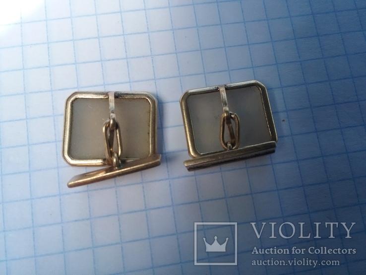 Запонки серебро ☆875 позолота  ,клеймо 1ЛЮ, фото №4