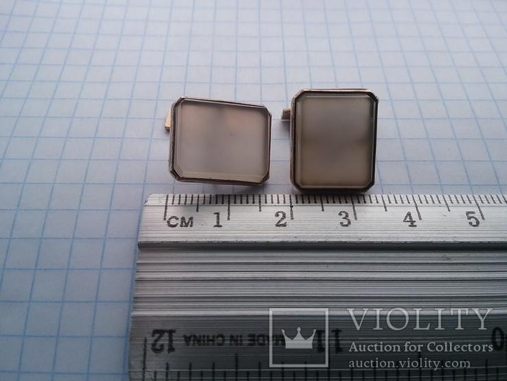 Запонки серебро ☆875 позолота  ,клеймо 1ЛЮ, фото №8