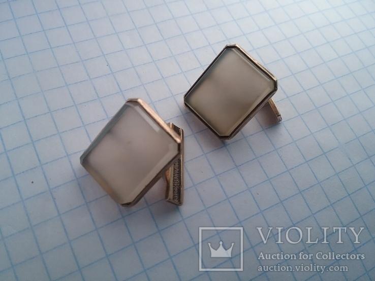 Запонки серебро ☆875 позолота  ,клеймо 1ЛЮ, фото №11