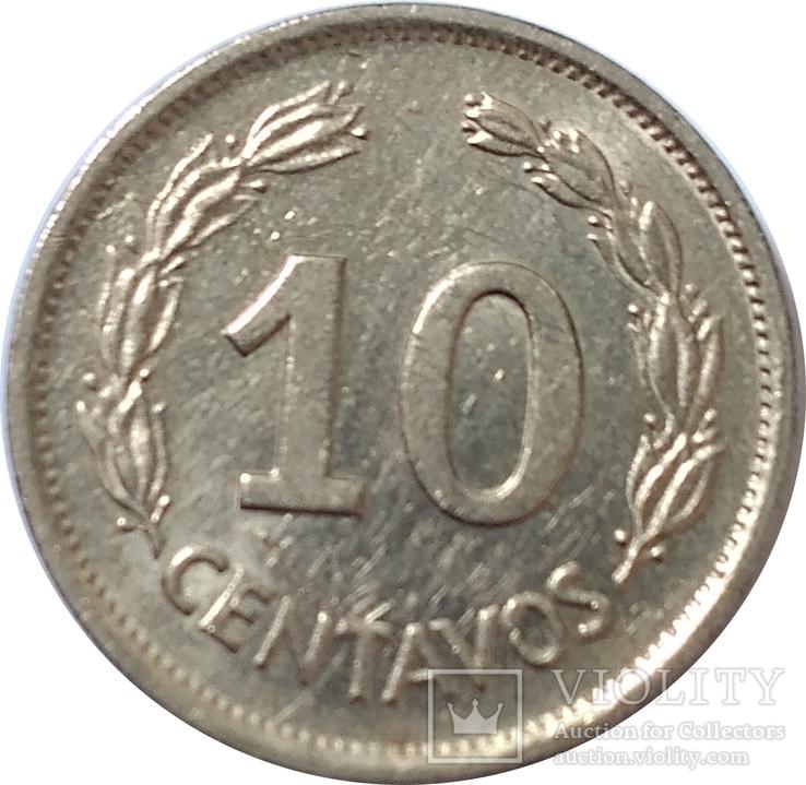 Эквадор 10 сентавос 1972, фото №2