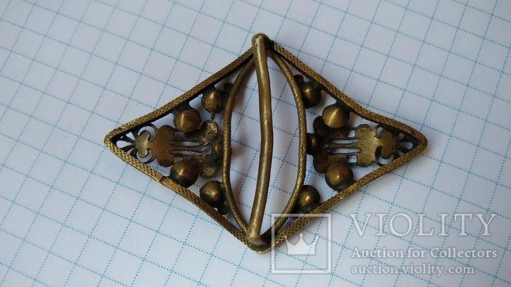 Зажим брошь для галстука с камнями, фото №8