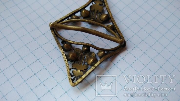 Зажим брошь для галстука с камнями, фото №9