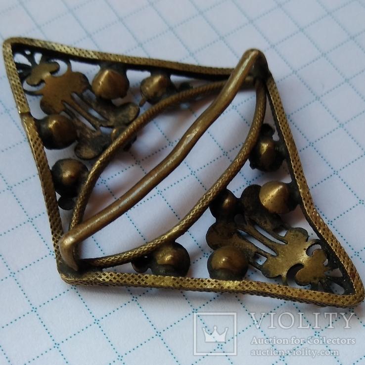 Зажим брошь для галстука с камнями, фото №10