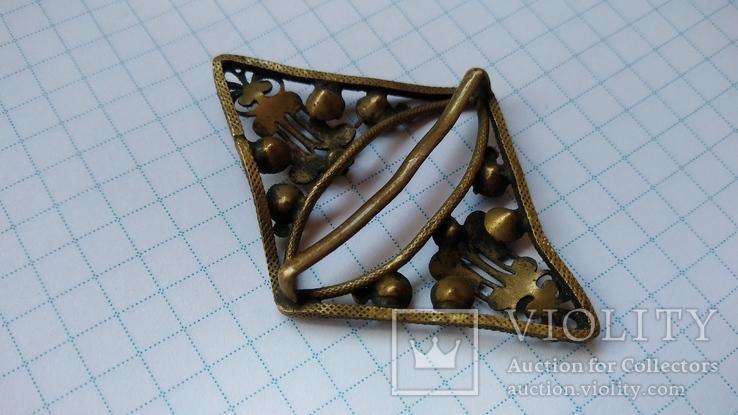 Зажим брошь для галстука с камнями, фото №11