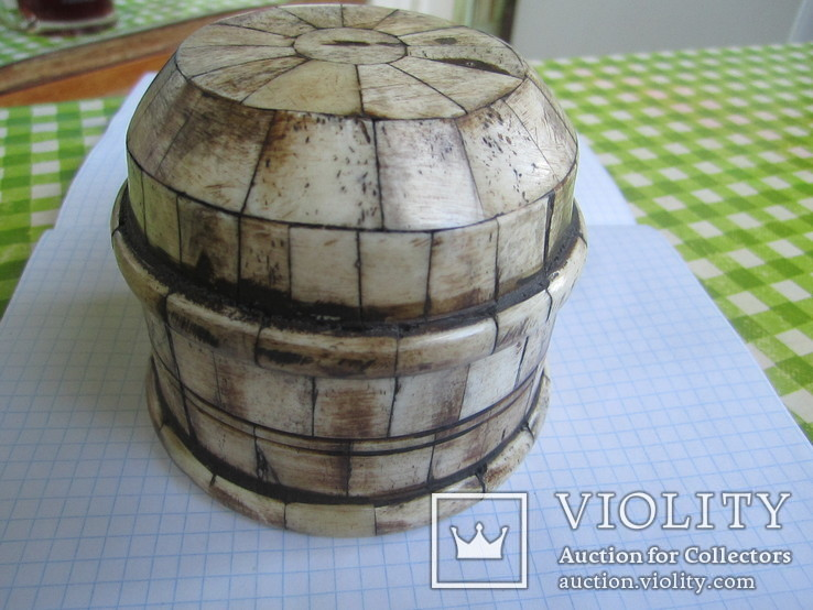 Шкатулка инкрустированная костью, фото №4